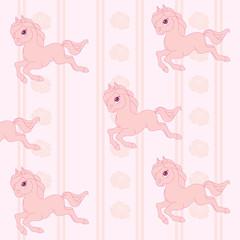 Pink horses