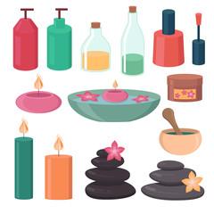 Set of spa elements