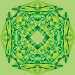 green geometric ornament