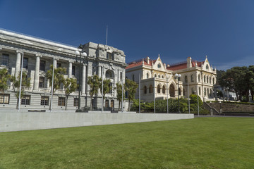 New Zealand Parliament and Library historical buildings