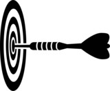 Dart Arrow in Goal