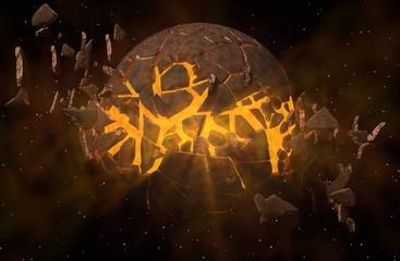 Planete explosé