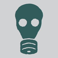 Isolated gas mask. Vector grunge illustration.