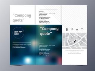 minimal style brochure template