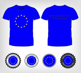 t-shirt with the flag of European Union
