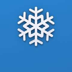 Snowflake 3d illustration