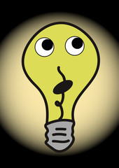 Bulb with eyes