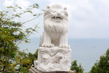 Stone statues in Danang City.