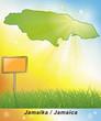 Leinwanddruck Bild - Karte von Jamaika
