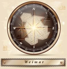 Karte von Weimar