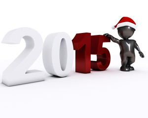 3D Morph Man happy new year