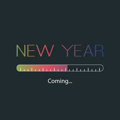 New Year Coming - Card Design Template