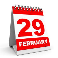 Calendar. 29 February.