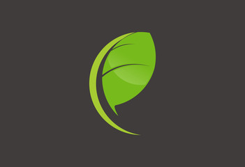 Ecology leaf logo vector