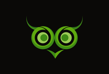 Owl abstract logo vector