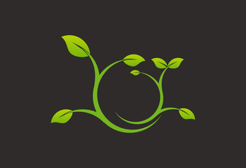 Ecology plant logo vector