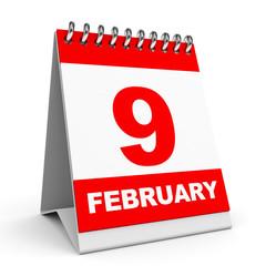 Calendar. 9 February.
