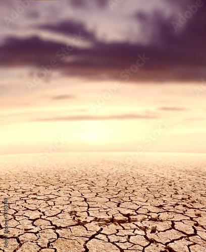 Desert landscape and sunset - 74953140