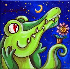 Crocodile In Love