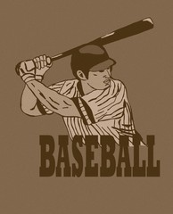 Baseball player vintage