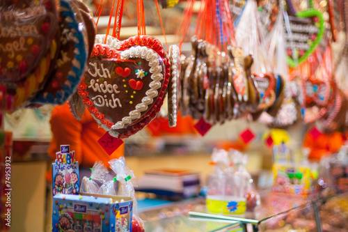 Sales of sweets on the Christmas fair in Berlin, Germany
