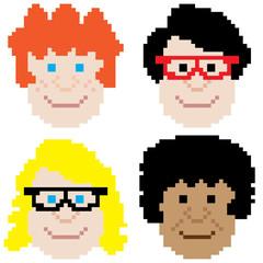 boy face pixel art