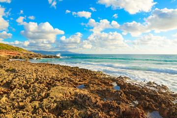 rocky shore in Le Bombarde