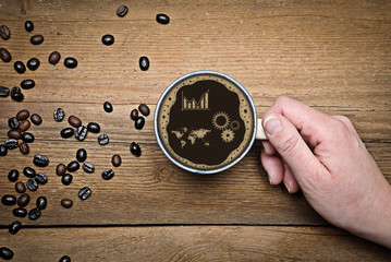 Erfolg Kaffee Diagramm
