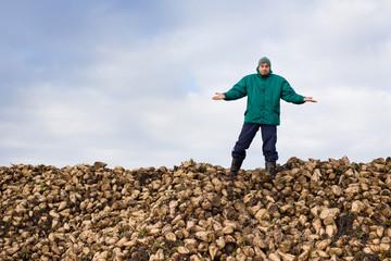 Peasant with sugar beet