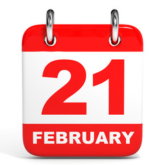 Calendar. 21 February.