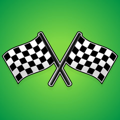 Crossed racing flags