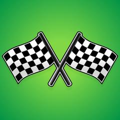 Crossed racing flags