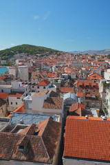 Tile roofs. Split, Croatia