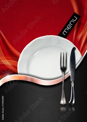 Foto op Plexiglas Boord Restaurant Menu Design