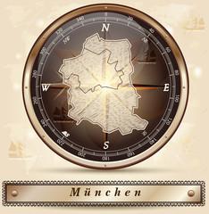 Karte von Muenchen