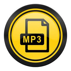 mp3 file icon, yellow logo,