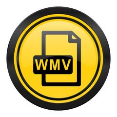 wmv file icon, yellow logo,