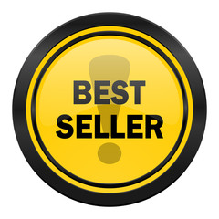 best seller icon, yellow logo,