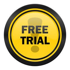 free trial icon, yellow logo,