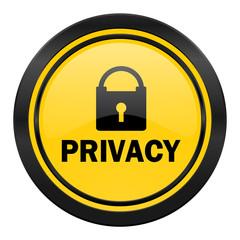 privacy icon, yellow logo,
