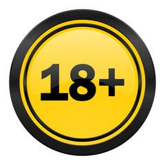 adults icon, yellow logo,