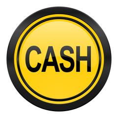 cash icon, yellow logo,
