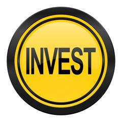 invest icon, yellow logo,