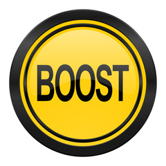 boost icon, yellow logo,