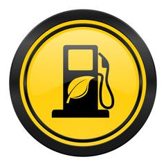 biofuel icon, yellow logo, bio fuel sign