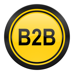 b2b icon, yellow logo,