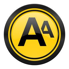alphabet icon, yellow logo,