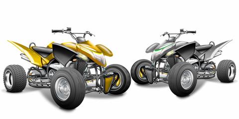 Quad ATV, Offroad Cruiser, freigestellt