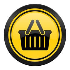 cart icon, yellow logo, shopping cart symbol
