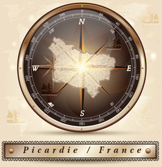 Karte von Picardie
